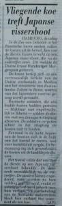 Vliegende koe (Telegraaf, 29 april 1997)