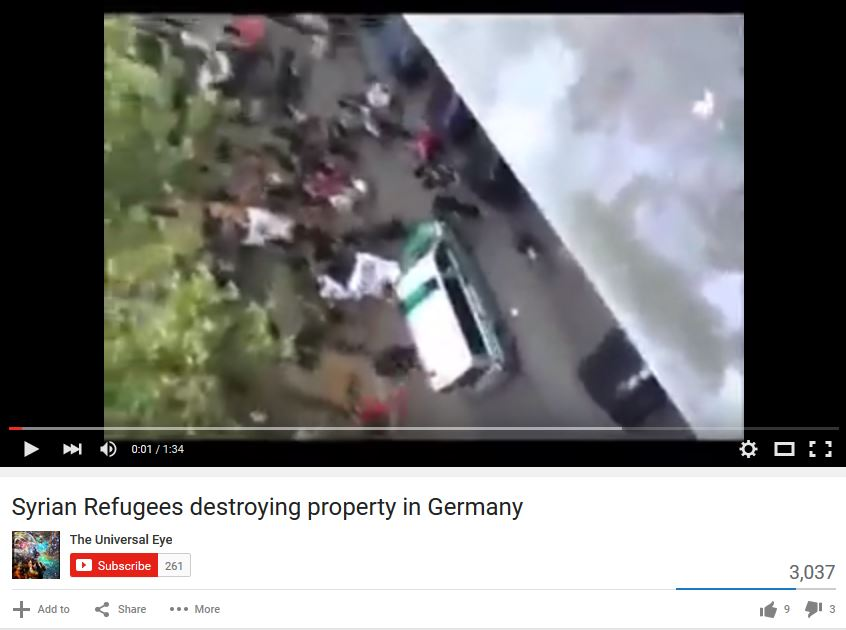 Syrian refugees destroying property