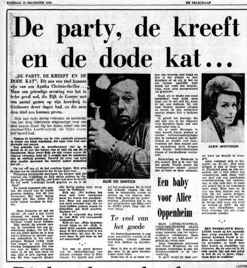 De Telegraaf, 12 december 1972