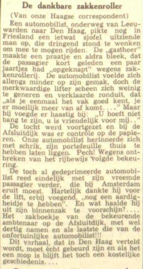 Van de voorpagina van de Leeuwarder Courant, 21 oktober 1947